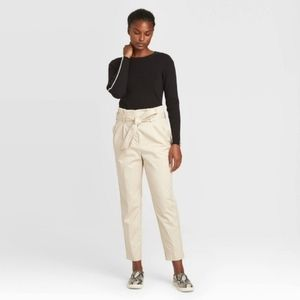 Prologue Belted Paperbag Ankle Utility Pants
